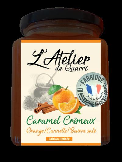 Caramel crémeux orange, cannelle beurre salé